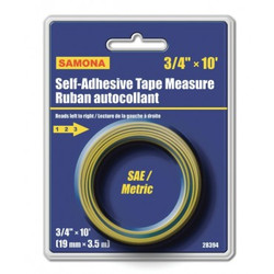 "Samona/ROK -  10 ft Self-Adhesive Tape 3/4"" Reads left to right - 28394"