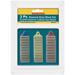 "Samona/ROK -  3 Pc Diamond Hone Block Set 1"" x 3"" - 48310"