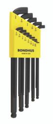 Bondhus 16537 - Set of 13 Balldriver Stubby L-wrenches, sizes .050-3/8-Inch