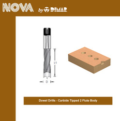 Dimar -  Dowel Drill Bit, Carbide-Tipped, Two Flute - BKP-5-57R