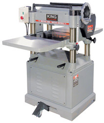 "King Canada - 15"" 3HP 220V 1PH Stationary Planer with Built In Mobile Base - KC-385FX"