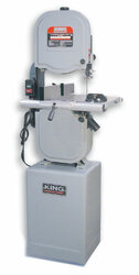 "King - 14"" 10.0A 3-Speed Bandsaw with Resaw Fence - KC-1433FXR"