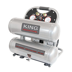 King Canada - KC-4620A Ultra-Quiet Oil-Free Air Compressor 4.6 Gallon - KC-4620A
