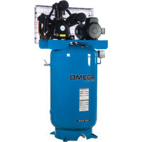 Omega -  5 HP Horizontal Compressor - Two Stages - TK-5080-01M