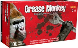 Watson Gloves -  Grease Monkey BLACK NITRILE POWDER FREE GLOVES, LARGE, 100/BOX  - 5554PF-L