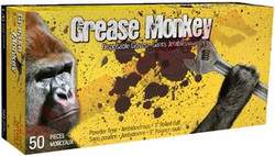 Watson Gloves -  Grease Monkey BLACK NITRILE POWDER FREE GLOVES, XTRA XTRA LARGE, 50/BOX - 5555PF-XXL