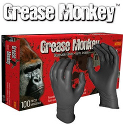 Watson Gloves -  Grease Monkey Disposable Nitrile Gloves, Sz : XL - 5554PF-X