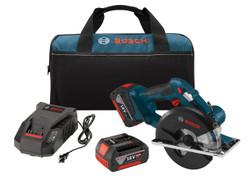 "Bosch -  18V 5-3/8"" Metal Circular Saw w/ (2) FatPack Batteries (4.0 Ah) - CSM180-01"