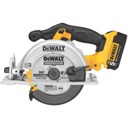 "DeWALT -  20V MAX Li-Ion 6-1/2"" Circular Saw (5.0Ah) w/ 1 Battery and Kit Box - DCS391P1"
