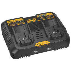 DeWALT -  12V/20V MAX Li-Ion Dual Port Jobsite Charging Station w/2 USB ports - DCB102