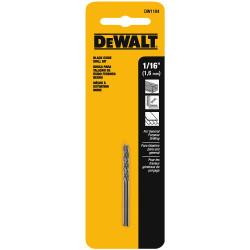 "DeWALT -  1/16"" BLACK OXIDE DRILL BIT ( 2 pack) - DW1104"