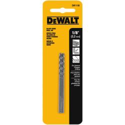 "DeWALT -  1/8"" BLACK OXIDE DRILL BIT ( 2 pack) - DW1108"
