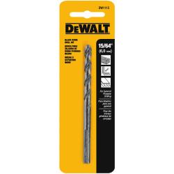 """DeWALT -  15/64"""" BLACK OXIDE DRILL BIT - DW1115"""