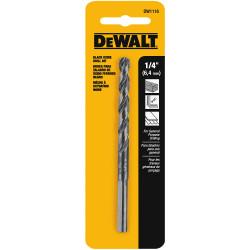 """DeWALT -  1/4"""" BLACK OXIDE DRILL BIT - DW1116"""