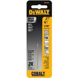 "DeWALT -  1/16""    Cobalt Drill Bit Split Point  - DW1204"