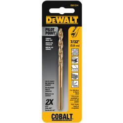 "DeWALT -  7/32""    Cobalt Drill Bit Split Point - DW1214"