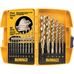 "DeWALT -  Pilot Point® 16 Pc. Set With 1/2""  Bit (Tough Case) - DW1956"