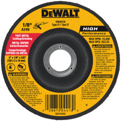 "DeWALT -  4"" x 1/8"" x 5/8"" General Purpose Metal Cutting/Grinding Wheel - DW4418"
