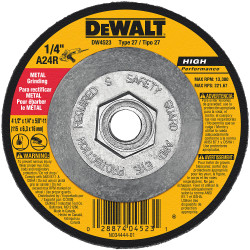 "DeWALT -  4-1/2"" x 1/4"" x 5/8""-11 General Purpose Metal Grinding Wheel - DW4523"