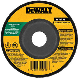 "DeWALT -  5"" x 1/8"" x 7/8"" Concrete/Masonry Cutting Wheel - DW4628"