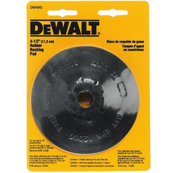 "DeWALT -  4-1/2"" Rubber Backing Pad with5/8""-11 Locking Nut - DW4945"