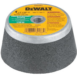 "DeWALT -  4"" X 2"" X 5/8""-11 C16R General Purpose Concrete/Masonry Grinding Cup Wheel - DW4961"