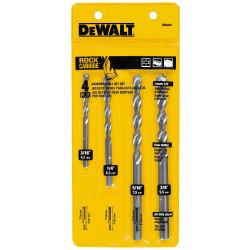 DeWALT -  4 Pc. Premium Percussion Masonry Drill Bit Set  - DW5204