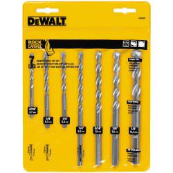 DeWALT -  7 Pc. Premium Percussion Masonry Drill Bit Set  - DW5207