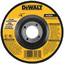 "DeWALT -  5"" x 1/8"" x 7/8"" Pipeline Cutting / Grinding Wheel - DW8484"