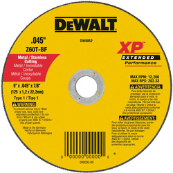 DeWALT -  5 X .045 X 7/8 XP CUTOFF WHEEL - DW8852