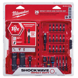 Milwaukee -  SHOCKWAVE™ DRIVE AND FASTEN SET 26PC  - 48-32-4408