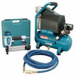 Makita MAC700-KIT3 - 2 hp Air Compressor And Brad Nailer Kit