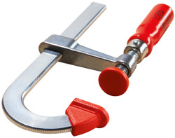 Bessey LMU2.004 - Clamp, woodworking, F-style, zinc jaws, swivel pads, 2 In. x 4 In., 330 lb