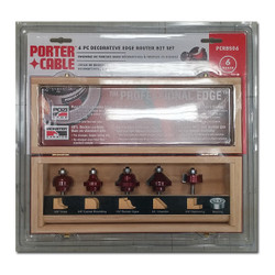 Porter Cable -  6PC. DECORATIVE EDGE SET - RBS06
