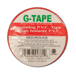 "G - Tape -  TAPE PVC RED 3/4""X66' - GT-066R"