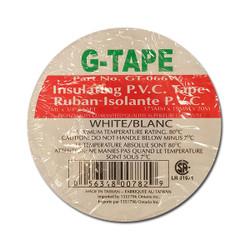 """G - Tape -  TAPE PVC WHITE 3/4""""X66' - GT-066W"""