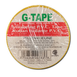 "G - Tape -  TAPE PVC YELLOW 3/4""X66' - GT-066Y"