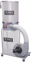 King -  1200 CFM Dust Collector with Canister Filter (110V/220V) - KC-3105C/KDCF-3500