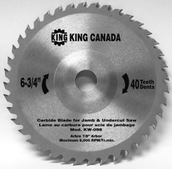 King - Replacement Carbide Blade - KW-098