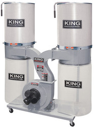 King -  2280 CFM Dust Collector with Canister Filter (220V) - KC-4045C/KDCF-3500