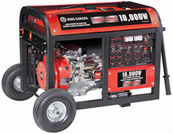 King -  10000W Gasoline Generator with Electric Start & Wheel Kit - KCG-10000GE