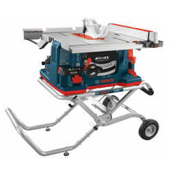 Bosch -  10 In. REAXX™ Jobsite Table Saw with Gravity-Rise™ Wheeled Stand - GTS1041A-09