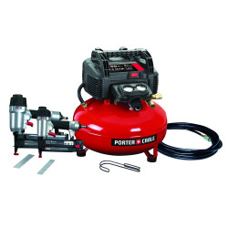 Porter Cable -  Brad Nailer/Finish Nailer Compressor Combo Kit - PCFP12656