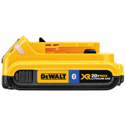 DeWalt -  20V MAX Li-Ion Compact Battery Pack with Bluetooth Technology (2.0 Ah) - DCB203BT