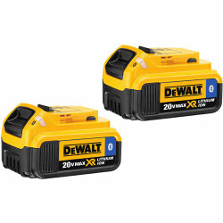 DeWalt -  20V MAX Li-Ion Battery with Bluetooth Technology 2-Pack (4.0 Ah) - DCB204BT-2
