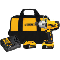 "DeWalt -  20V MAX XR 3 Speed 7/16"" High Torque Impact Wrench (5.0Ah) w/ 2 Batteries and Bag - DCF898P2"