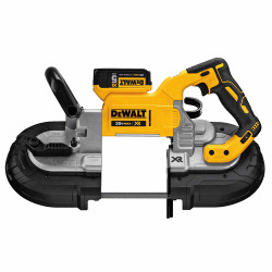DeWalt -  20V MAX XR Deep Cut Bandsaw (5.0Ah) w/ 2 Batteries and Kit Box - DCS374P2