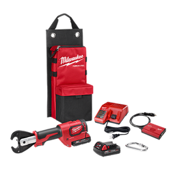 """Milwaukee 2678-22 - M18™ FORCE LOGIC™ 6T Utility Crimper Kit with D3 Grooves """"Snub Nose"""""""