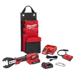 Milwaukee 2678-22BG - M18™FORCE LOGIC™ 6T Utility Crimper Kit with D3 Grooves and Fixed BG Die