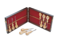 Robert Sorby 512 - Micro Woodcarving 12 Piece Set in Wooden Box